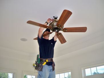 How to install a ceiling fan ask the president ceiling fans are a great way to improve your home temperature whether you are trying to keep your hose cooler or warm it up a ceiling fan can do both mozeypictures Choice Image